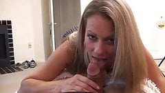 Mommy In Pantyhose Takes Care Of Morning Wood Wth BJ And FJ