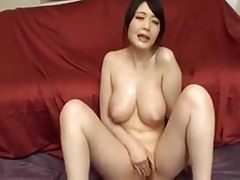 Japanese - Big Naturals Babe - Bukkake & Masturbation