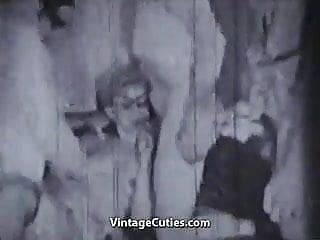 Three guys Fucking Hot Blonde (1950s Vintage)