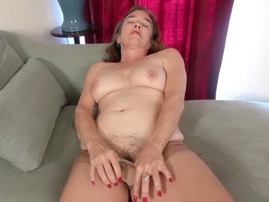 American gilf melody garner pleasures her hairy pussy 8