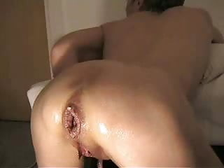 Horny wife really loves deep anal fist. Amateur extreme !