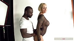Black Monster Dick vs Blond Monster MILF's Thumb