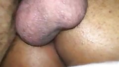 Treesome with horny Moroccan girl fucked by a very tick dick