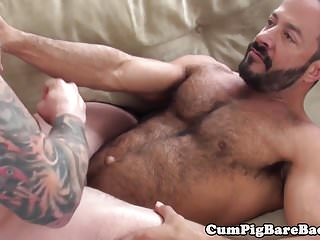 Preview 5 of Inked stud barebacked by eager wolf