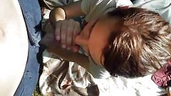 Cute Girlfriend Blowjob Outdoors