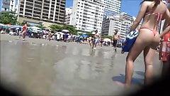 Hidden cam at beach adorble teen ass