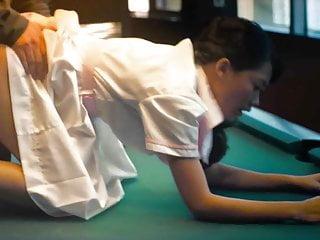 Fish Liew Sex on Billiard Table Scene On ScandalPlanetCom