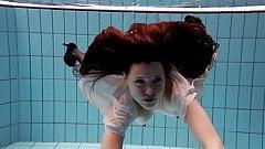 Salaka Ribkina teenie naked in the pool