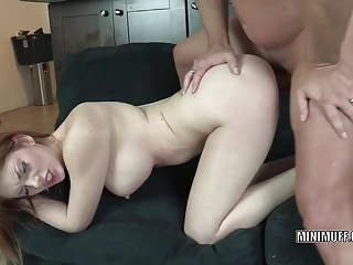 Busty coed Lilith Lust gets pounded with a stiff cock