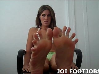 Preview 5 of I love jerking cock with my sexy little feet JOI