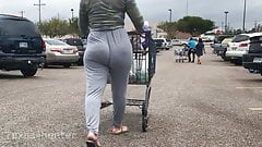 Jiggly Butt Latina in Grey Pants