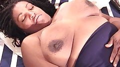 Naughty chick play solo with toy in bedroom