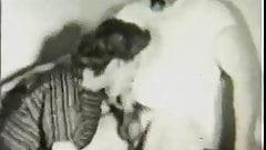 Mister Incognito gets Deep Blowjob (1950s Vintage)