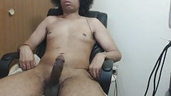 relaxing while my dick dances then stroking my cock