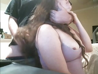 Cute Long Haired BBW Hairjob, Hair Brushing, Long Hair
