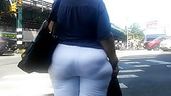 Bbw Gilf Vpl Booty in White Pants