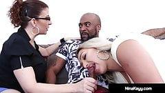 Naughty Nympho Nina Kayy Fucks Her Man & Attorney Sara Jay!