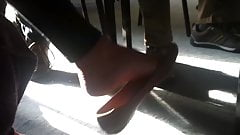 Candid delicious flat dangle at english class