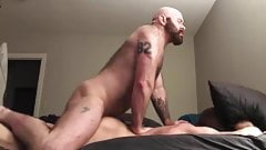 Bearded Muscle Daddy Fucks his Boy