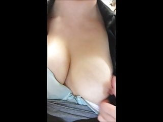 Hot asian GF undressing at work show tits for BF