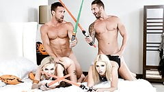DaughterSwap - Hot Babes Stick Light Sabers In Each Others P's Thumb