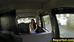 Deepthroating UK skank doggystyled by cabbie