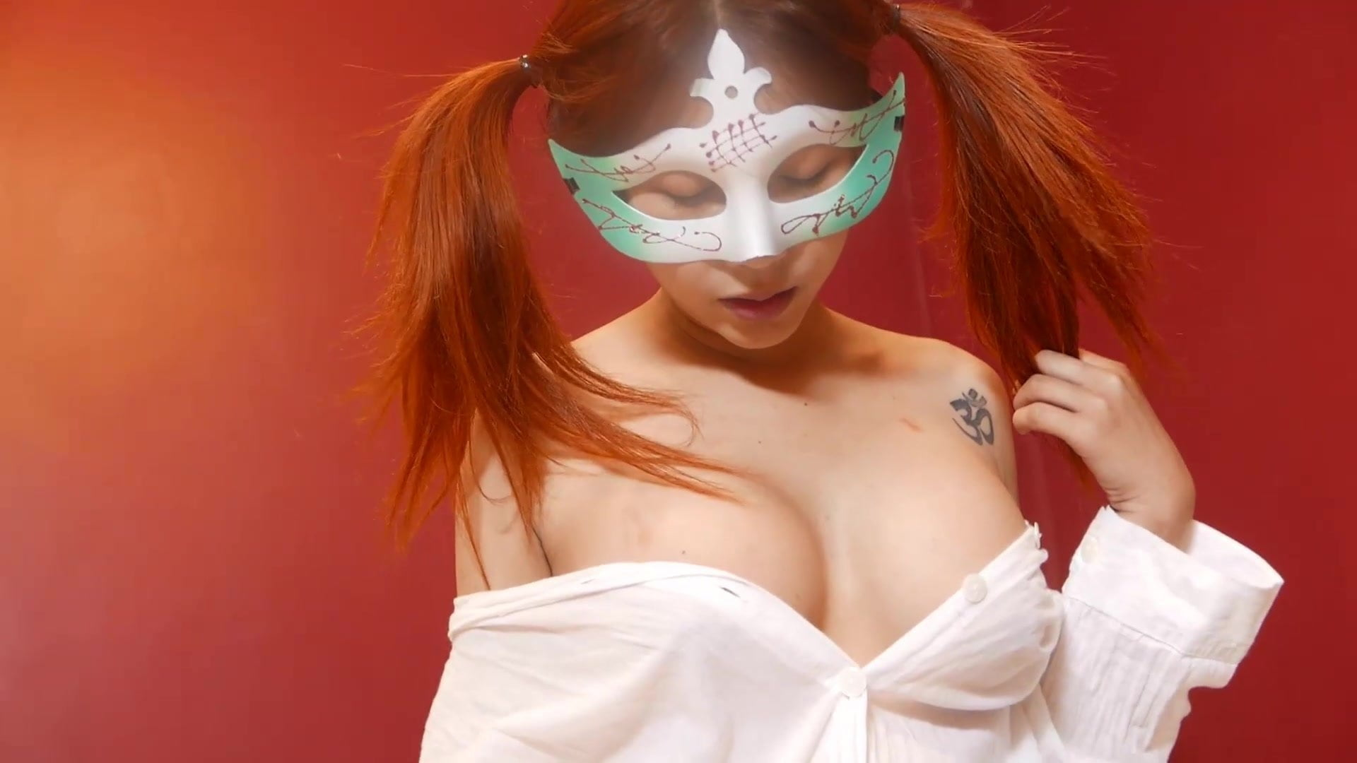 Masks Galore along with her vlog video exhibiting her tight titties