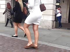 Candid Walk 22 - White Summer Dress
