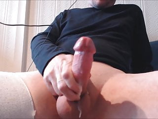 My solo 112 (Tied cock and balls stroked to a creamy cum)