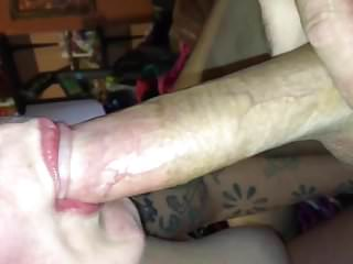 My amateur wife playing sucking my cock deepthroat sloppy