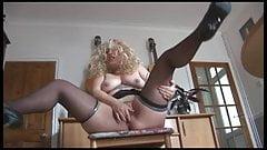 Chubby Blonde Mature Slut fingering her sloppy cunt