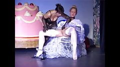 Nylon fetish Lesbians 2 (Recolored)