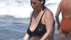 Beach MILF Huge TIts