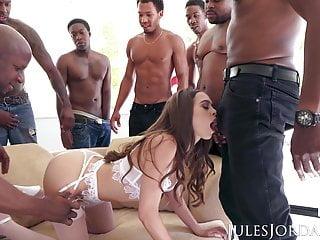 Jules Jordan Riley Reid Interracial Gangbang