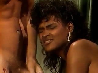 Vintage Ebony Angel Kelly Does 2 Guys