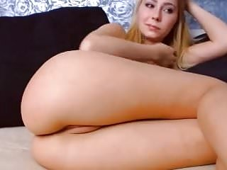 Blonde babe big natural tits boobs tight pink shaved pussy