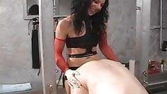 Brunette Mistress in Dungeon 3