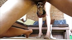 sara is cruel doggy style chastity busting