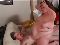 Fat hottie loves to ride big cock