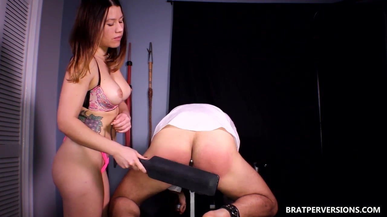 Femdom spanking man