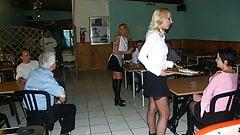 Serveuses amatrices au restaurant : baise en public
