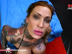Calisi Ink Busty Tattooed Babe Gangbanged - German Goo Girls's Thumb