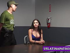 Busty immigrant Sophia Leone does anything to avoid jail