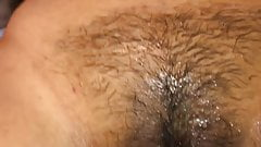 Totally wet after sperm and me squirting