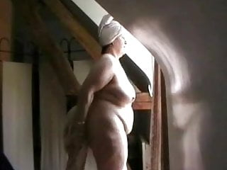 Nude in front of aunt - Nude in front of the window