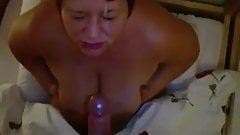 Epic cum blast to the center of her face