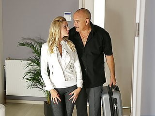 Oldk Buxom Beauty Fucked By Mature Partner In Old And