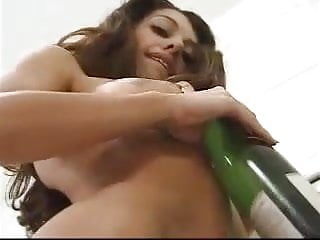 Girl Masturbating with Wine Bottle Toys by snahbrandy