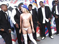 Callie Cobra Tries BBC Interracial Gangbang