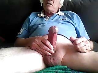 Grandpa cum on cam 5